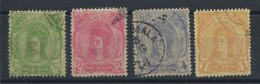 Guatemala N° 11/14 Obl (FU) 1878 - Tête D'indienne - Guatemala