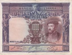 BILLETE DE ESPAÑA DE 1000 PTAS DEL AÑO 1925 DE CARLOS I CALIDAD BC  SIN SERIE (BANKNOTE) - 1000 Pesetas