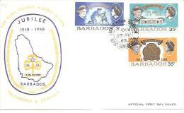 58227) FDC Delle Ibarbados The Girl Guides Association-29-08-68. Serie Completa - Barbados (1966-...)