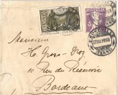 ARM-L49 - SUISSE Entier Postal Bande Pour Journaux 3 Cts Fils De Tell+ Complément Pour La France 1919 - Entiers Postaux