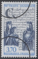 Specimen, France Sc2058 Andelot Treaty 1400th Anniversary - Storia
