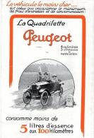 PUBLICITE PEUGEOT LA QUADRILETTE 3 PAGES FORMAT 15 X23,50 - Publicités