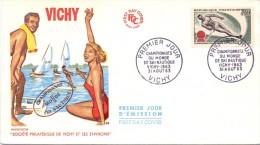 VICHY WORLD CHAMPIONSHIP SKIING FDC  (M160121-22)