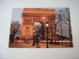 75 - PARIS LA NUIT  * L'ARC DE TRIOMPHE DE L'ETOILE ANIME * - Triumphbogen