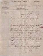 RHÔNE - LYON - COLLES FORTES , GELATINE , NOIR ANIMAL , SUIF D´OS , ALLUMETTES - COIGNET PERE & FILS & CIE - LETTRE 1871 - France