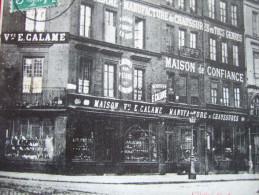 """76 - ROUEN - PLACE SAINT MARC - """" Vve E. CALAME - MANUFACTURE DE CHAUSSURES..."""" - RARE - - Rouen"""