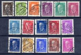 ESTONIA 1936-40 Päts Definitive Set Except 6 S.green, Used. - Estonia