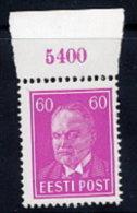ESTONIA 1936 Päts Definitive 60 S. MNH / **.  Michel 126 - Estonia