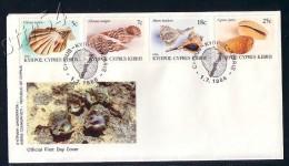 Cyprus FDC 1986 Sea Shells. - Lettres & Documents