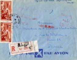 TB 948 - LSC - Lettre Par Avion Du VIETNAM OB HANOI Pour PARIS - Viêt-Nam