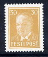 ESTONIA 1936 Päts Definitive 30 S. Ochre LHM / *.  Michel 136 - Estonia