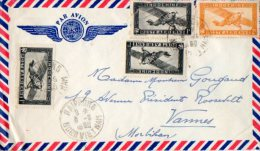 TB 950 - LSC - Lettre Par Avion Du VIETNAM OB HAIPHONG Pour VANNES - Viêt-Nam