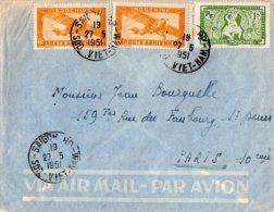 TB 951 - LSC - Lettre Par Avion Du VIETNAM OB SAIGON  Pour PARIS - Viêt-Nam