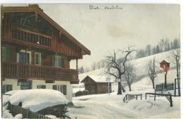 BIEL BIENNE Farblitho 1909 Gasthaus - BE Berne
