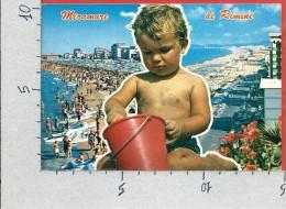 CARTOLINA VG ITALIA - MIRAMARE DI RIMINI - Panorama - Bimbo Sulla Spiaggia - 10 X 15 - ANN. 1981 - Rimini