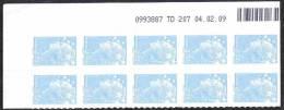 France Coin Daté Autoadhésif N°  288 ** Marianne De Beaujard Du 04.02.09, Le 1,30 Euro Bleu Ciel - 2000-2009