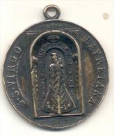 ITALIE. MEDAILLE RELIGIEUSE 1894. S. S. VIRGO LAURETANA. TRES BEL ETAT.  BELLE PATINE. ITALY  SIGNEE JOHNEON. 48 Gr. VI - Professionals/Firms