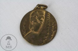 Vintage 1948 Sport Brass Medal From The C.U.S. Torino Club Italy - Italia