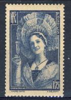Francia 1937  N. 345 F. 1,75 Blu Serie Tipi E Castelli MVLH GO Catalogo € 10 - Nuovi