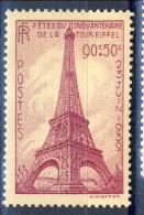 Francia 1939  N. 429 C. 90+50 Cinquantenario Tour Eiffel MNH GO Catalogo € 17 - Francia