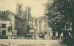 BE HUY / Le Hoyoux Dans La Ville Et Tour De La Collègiale / - Huy