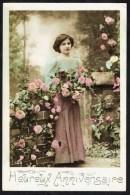 Jeune Femme Cueillant Des Roses - Circulé - Circulated - Gelaufen - 1910. - Femmes