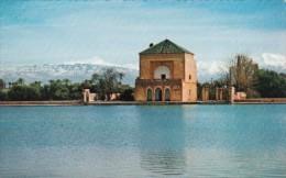 Morocco Marrakesh Le Pavillon Et Bassin De La Menara - Marrakesh