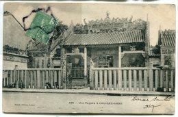 - 136 - Indochine - Viet-Nam - Une Pagode à CAU-ONG-LANH, écrite En 1906, Précurseur, Cachet CHOLON, BE, Scans. - Viêt-Nam