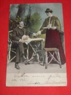 COUPLES  -  Couple  Au Petit Déjeuner  -  1905      - (2 Scans) - Couples