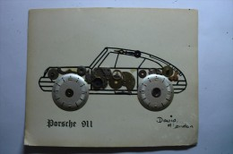 Porsche 911 - David Of London - Horlogerie - Pièce De Montre Coller - Other