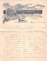 SUISSE - BIENNE , BIEL - SOCIETE TYPOGRAPHIQUE DE BIENNE - C. SCHWEIZER & CIE - LETTRE - 1904 - Suisse