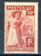 Francia 1938 N. 401 C. 65+60 Pro Reduci Di Spagna MLH GO Catalogo € 9,50 - Ungebraucht