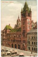 Basel Rathaus Mit Leben  Farblitho Um 1906 - BS Bâle-Ville