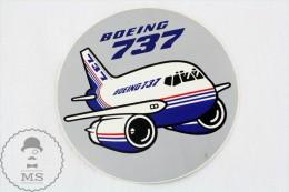 Collectible Round Sticker - Boeing 737 Airplane/ Airship - Pegatinas