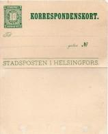 Finlande Entier Postal Poste Privée Helsingfors - Finlande