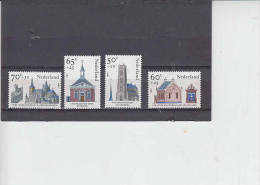 PAESI BASSI 1985 - Unificato  1236/9** - Beneficenza - Chiese E Cattedrali - Chiese E Cattedrali