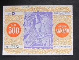 BIGLIETTO LOTTERIA 1962 AGNANO SPL - Biglietti Della Lotteria