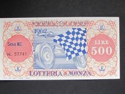 BIGLIETTO LOTTERIA 1962 MONZA SPL - Biglietti Della Lotteria