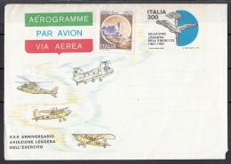 Italia Aereogramma 1981 - Intero Postale -  XXX Anniversario Aviazione Leggera Dell ' Esercito - Elicotteri