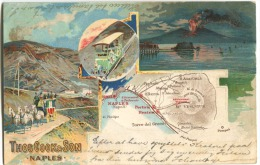 NAPOLI Thos COOK & Son Naples Gruss Aus Type Color Litho Sent 1901 Thomas Cook's Vesuvio - Napoli (Napels)