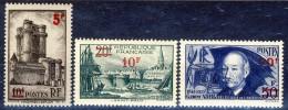 Francia 1940 - 41 Serie N. 474-475 I 3 Alti Valori MNH GO Catalogo € 89 - Francia