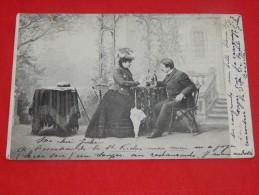 COUPLES -  FANTAISIES   -   Scène Galante   -  1905      - (2 Scans) - Couples