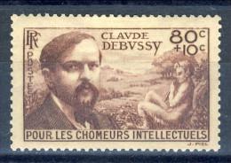 Francia 1940 N. 462 C. 80+10 Pro Chomeur Intellectuels MNH GO Catalogo € 12,50 - Ungebraucht