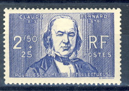 Francia 1940 N. 464 F. 2,50+25 Pro Chomeur Intellectuels MNH GO Catalogo € 12,50 - Francia