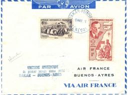 Air France AOF Lettre Par Avion 1948 - Kommerzielle Luftfahrt