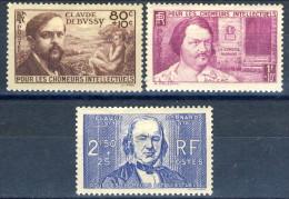 Francia 1940 Serie N. 462-464 Pro Chomeur Intellectuels MH GO Catalogo € 37,50 - Ungebraucht