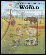 LIBERIA  2176 M  MINT NEVER HINGED MINI SHEET OF WILDLIFE & ANIMALS ; ASIA (   0305 - Zonder Classificatie