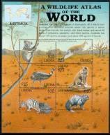 LIBERIA  2177 M  MINT NEVER HINGED MINI SHEET OF WILDLIFE & ANIMALS  ; AUSTRALIA  (   0320 - Briefmarken