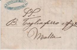 Turkey EL 1853 Burgas - Constantinople - Malta - Turkey
