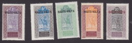 Upper Volta, Scott #1, 3, 7, 9, 10, Mint Hinged, Camel With Rider Overprinted, Issued 1920 - Upper Volta (1920-1932)